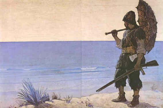 Crusoe Raft and Treasure Hunt for Children