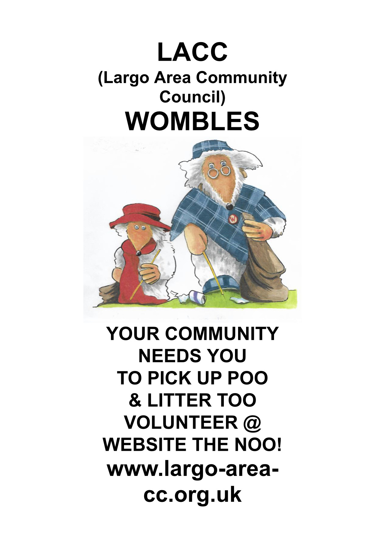 Appeal for Wombles help during Largo Arts Week